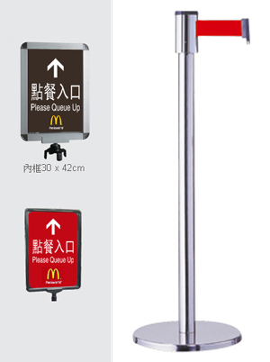 Crowd Control System Retractable Belt Queue Stand